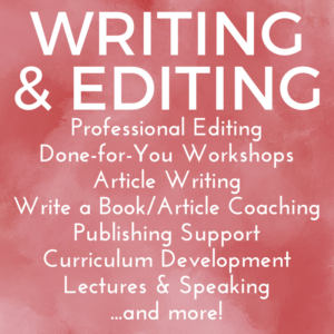 Professional Editing Done-for-You Workshops Article Writing Write a Book/Article Coaching Publishing Support Curriculum Development Lectures & Speaking ...and more! www.JenniferWeinbergMD.com