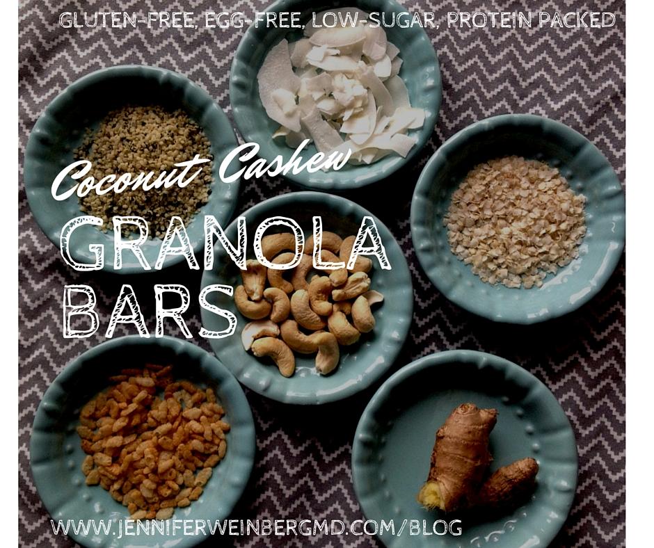 Gluten-Free Ginger Coconut Cashew Protein Granola BarsDr ...